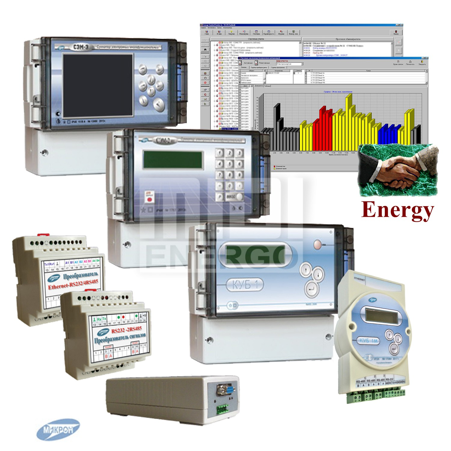 микрон сэм2 сэм3 куб1 energy for windows control center